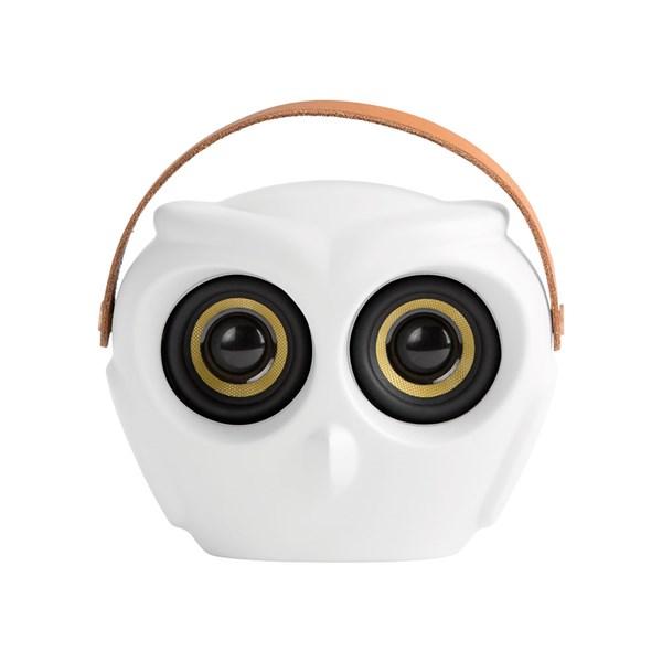 aOwl Portable Bluetooth Speaker in White