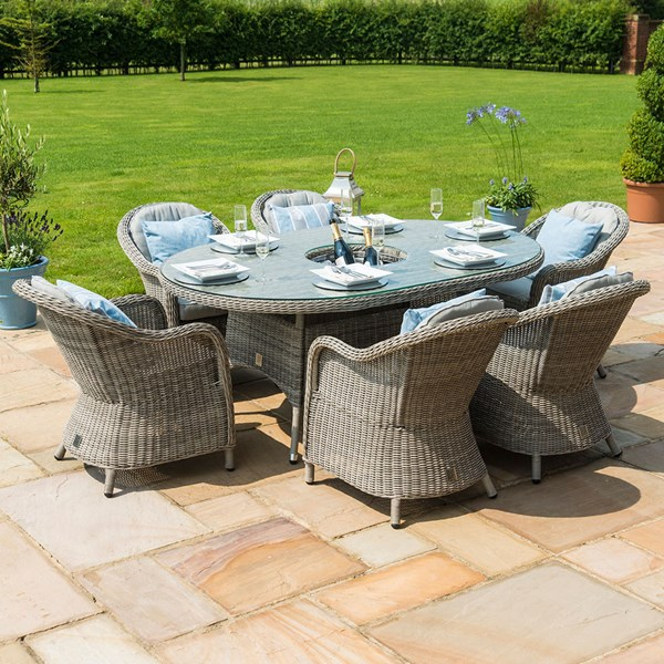 Oxford Oval Outdoor Dining Set with Ice Bucket