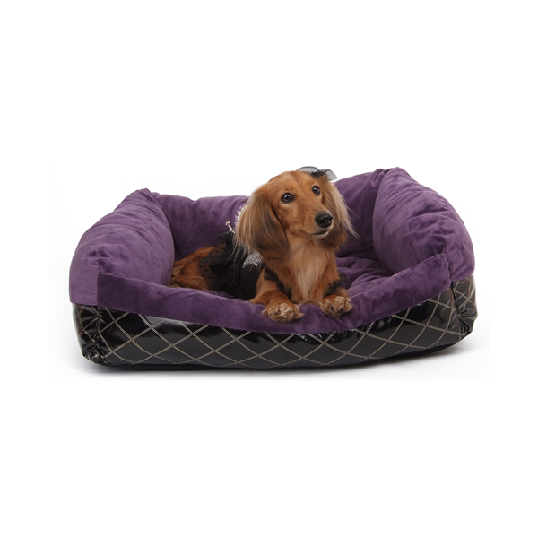 PUPPY ANGEL Cozy Couch Luxury Sleeper Purple Large