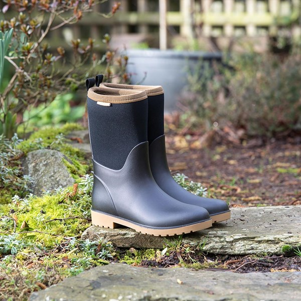 Ladies Candice Half-Boot Wellies in Tan