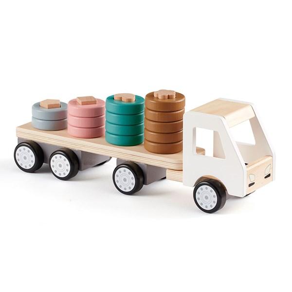 Kids Concept Children's Aiden Wooden Sorter Ring Truck