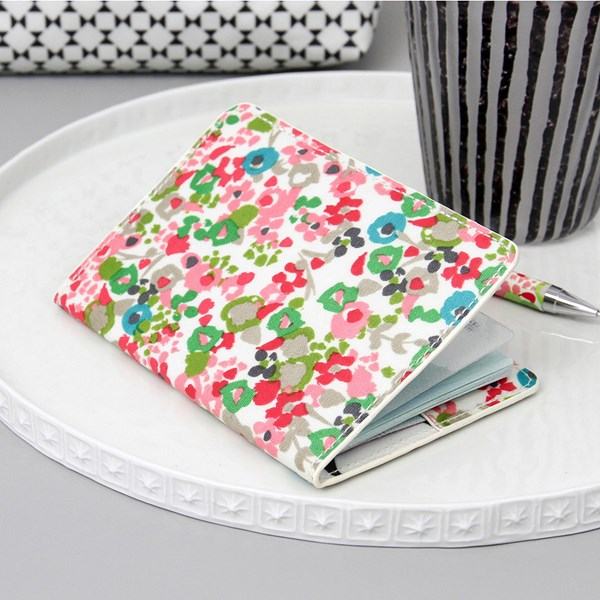 Caroline Gardner Passport Cover in Ditsy Design