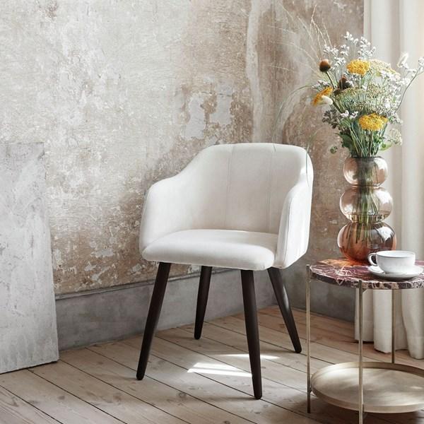 Sophisticated Cream Velvet Chair from Broste Copenhagen