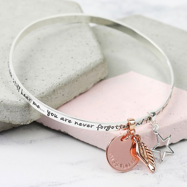 Personalised Never Forgotten Charm Bangle