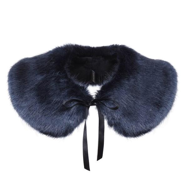 Fashionable Collar Midnight Blue