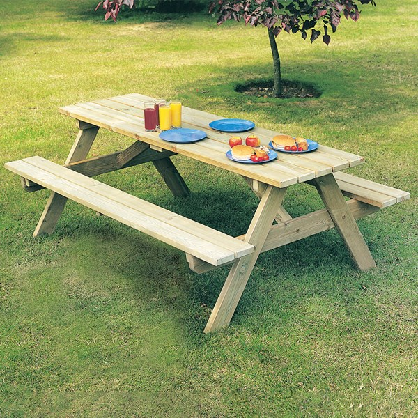 Alexander Rose Pine Woburn Picnic Table