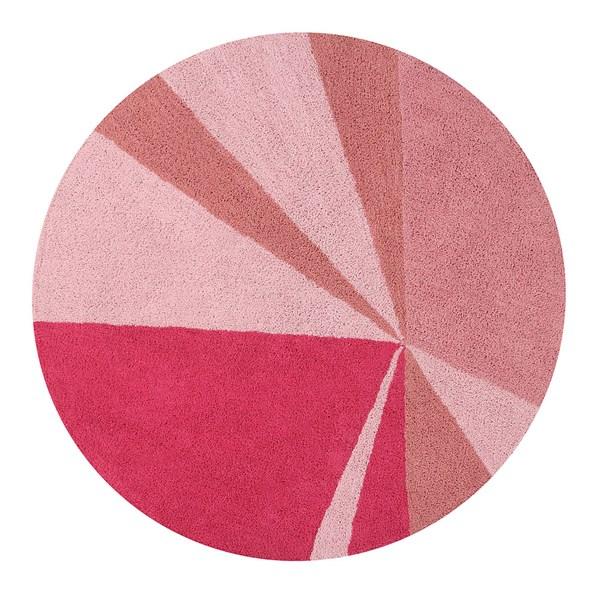 Girls Fuschia Pink Round Rug and Playmat