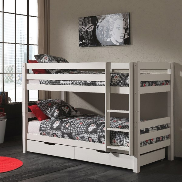 Pino Kids Bunk Bed in White