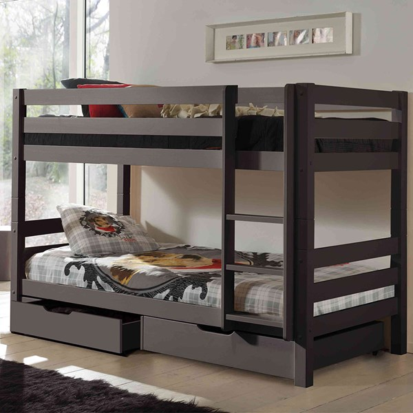 Kids Wooden Bunk Bed with Under Bed Drawers
