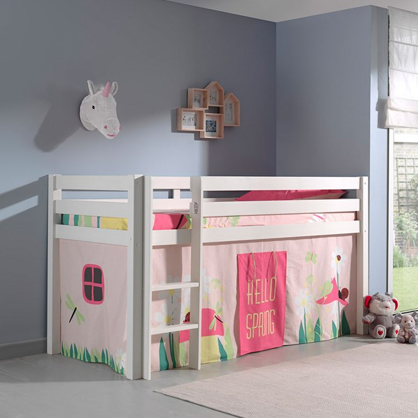 Pino Kids Mid Sleeper with Curtain