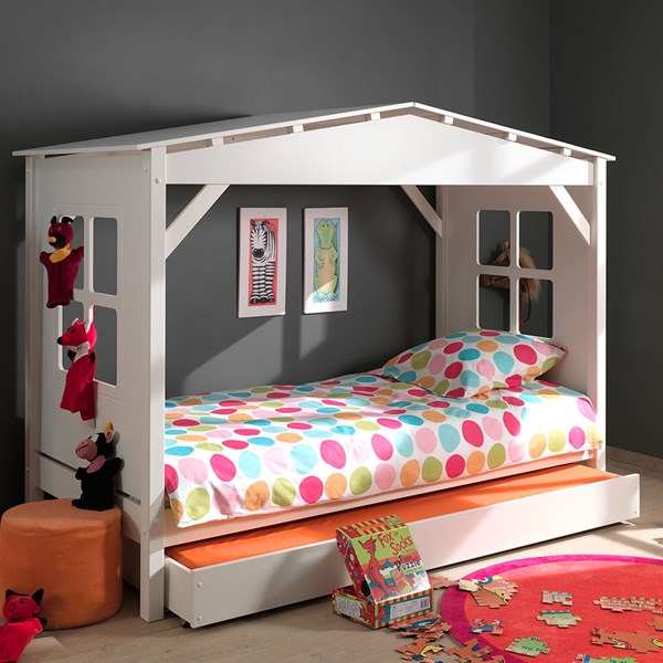 Pino House Cabin Bed in White