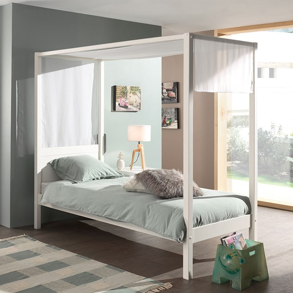 Kids Bed Frame with Canopy