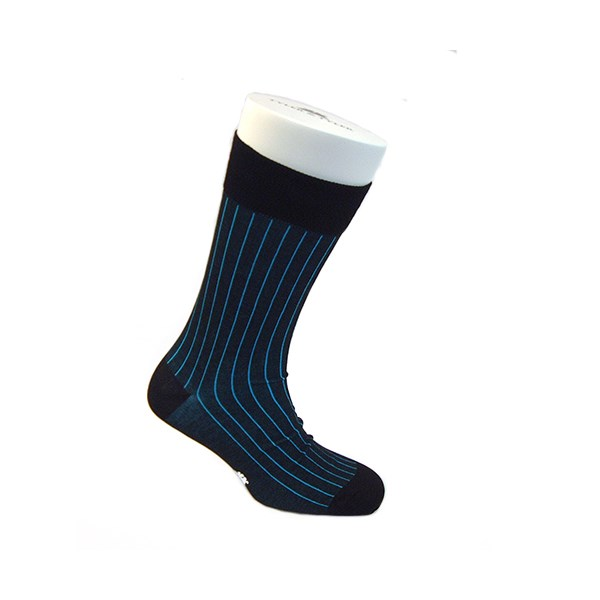 designer socks in pinstripe black
