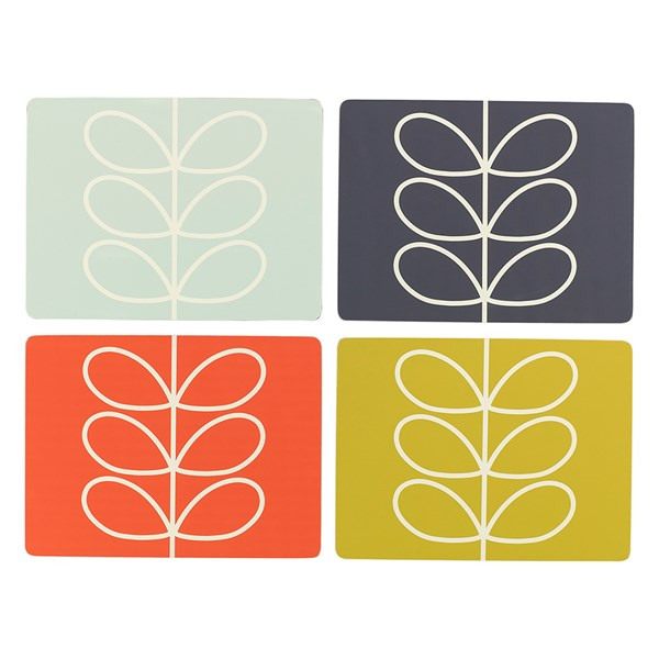 Multicoloured Table Mats in Retro Print