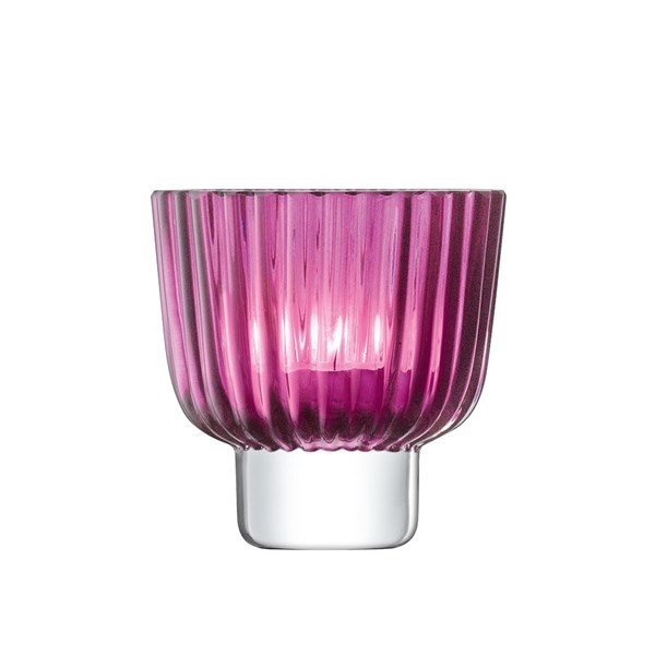 LSA Pleat Tealight Holder in Heather
