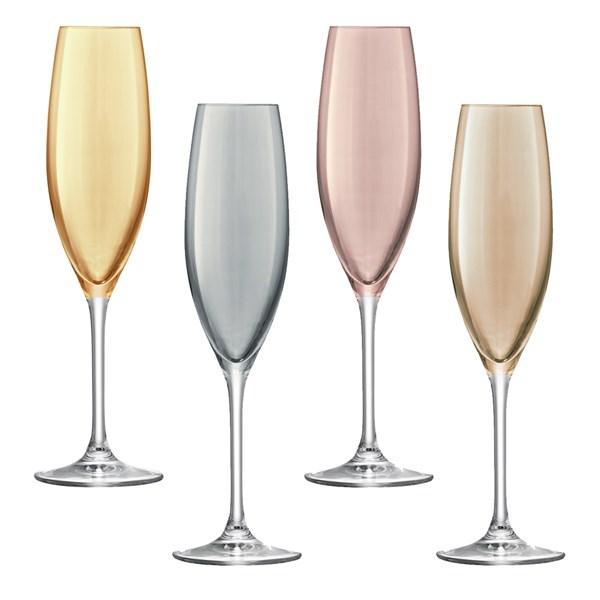 Polka Champagne Flutes 4 Pack