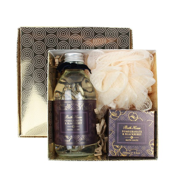 Bath House Pomegranate and Blackberry Bathe Gift Box