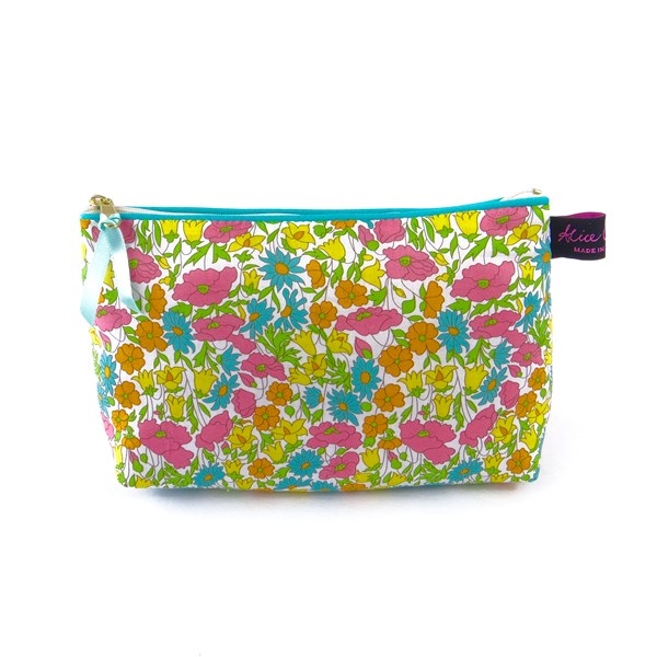 Alice Caroline Poppy & Daisy Liberty Fabric Cosmetic Bag