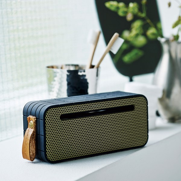Modern Speaker with Retro Twist and Powerbank