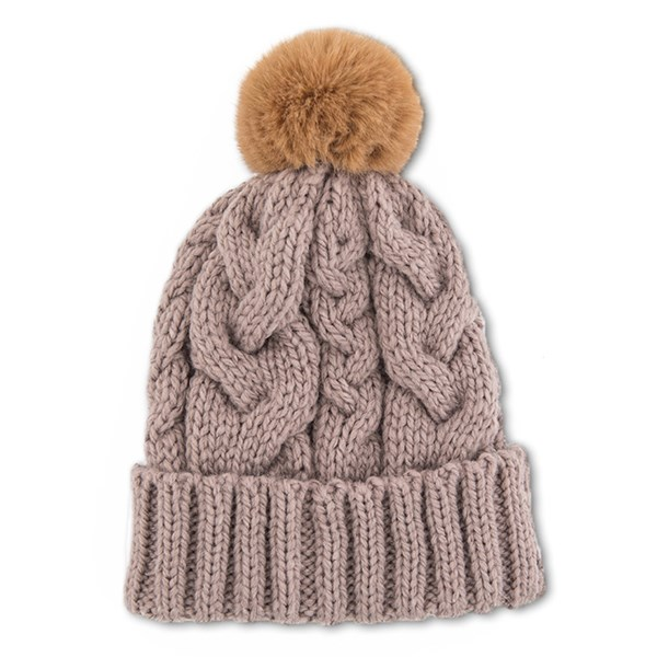 Powder Charlotte Pom Pom Hat in Camel