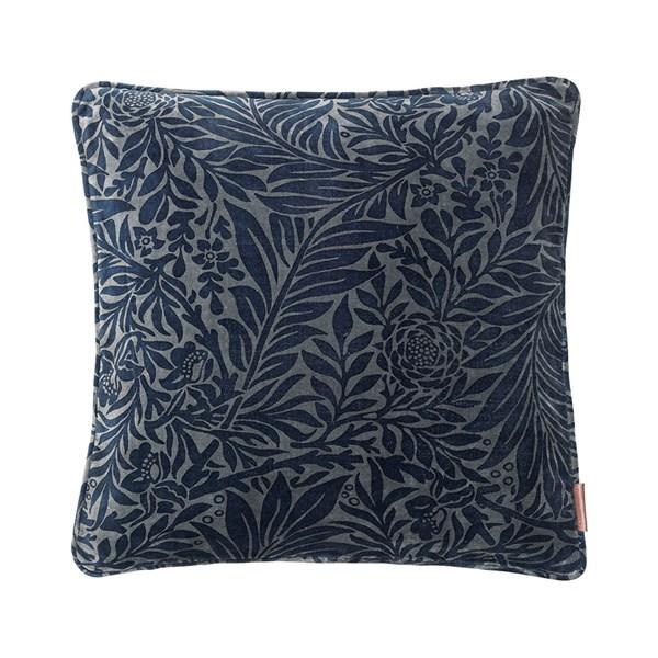 Velvet Leaf Print Cushion
