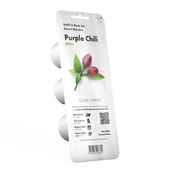 Click and Grow Smart Garden Purple Chili Pepper Plant Pods 3 Pack