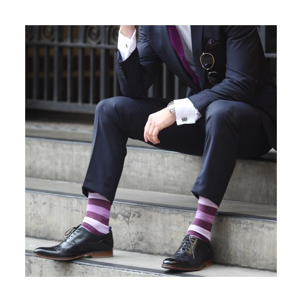 Fathers day gifts - Purple stripey socks