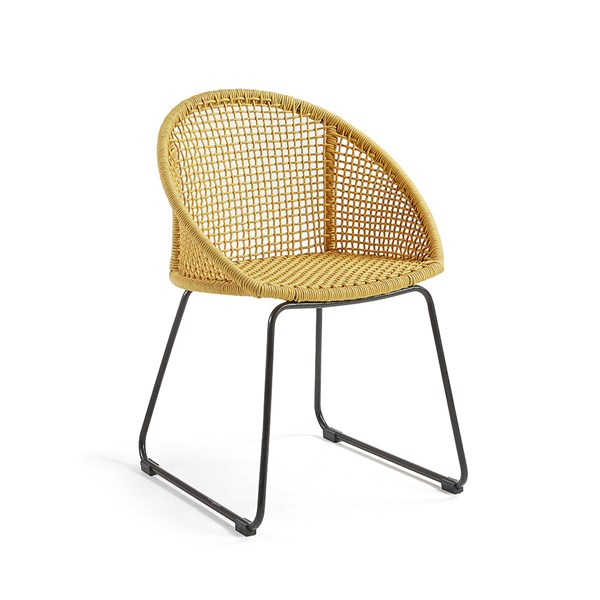 Sandrine Outdoor Armchair in Mustard