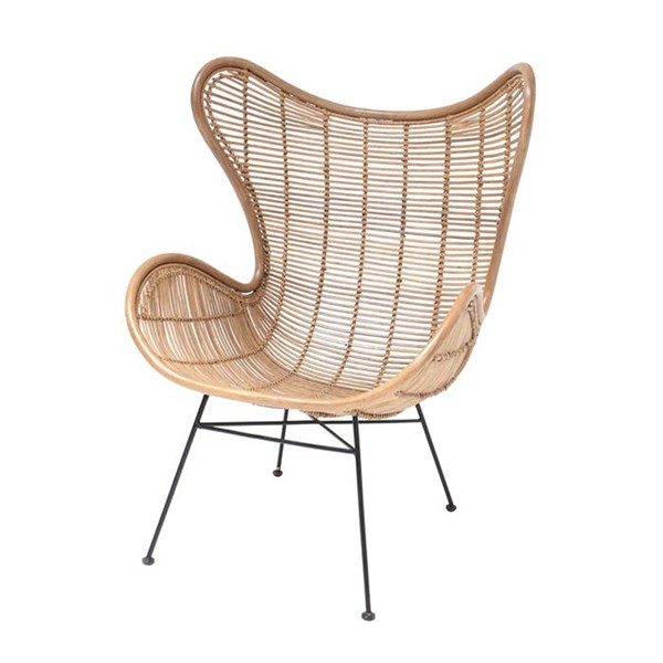 Rattan Egg Chair in Natural Look