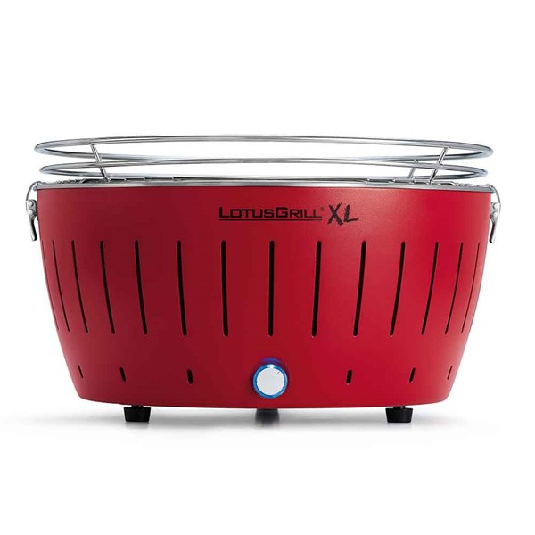 Lotus Grill XL BBQ in Red with Free Lighter Gel and Charcoal