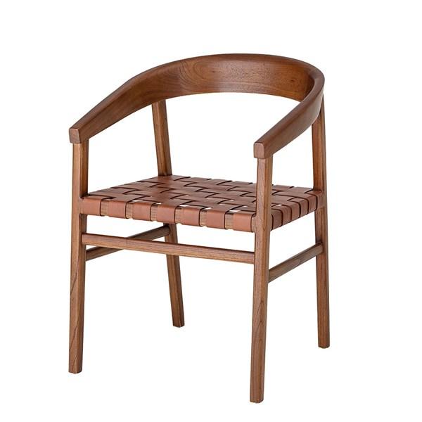 Bloomingville Leather & Wood Vitus Chair
