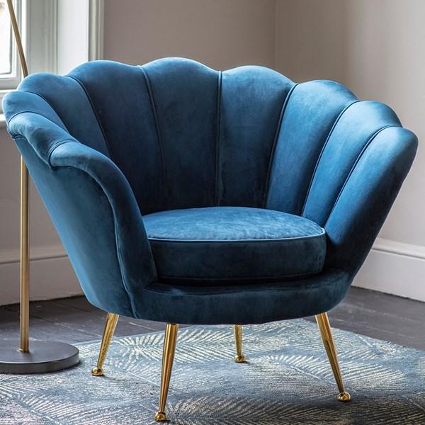 Sapri Velvet Lounge Chair