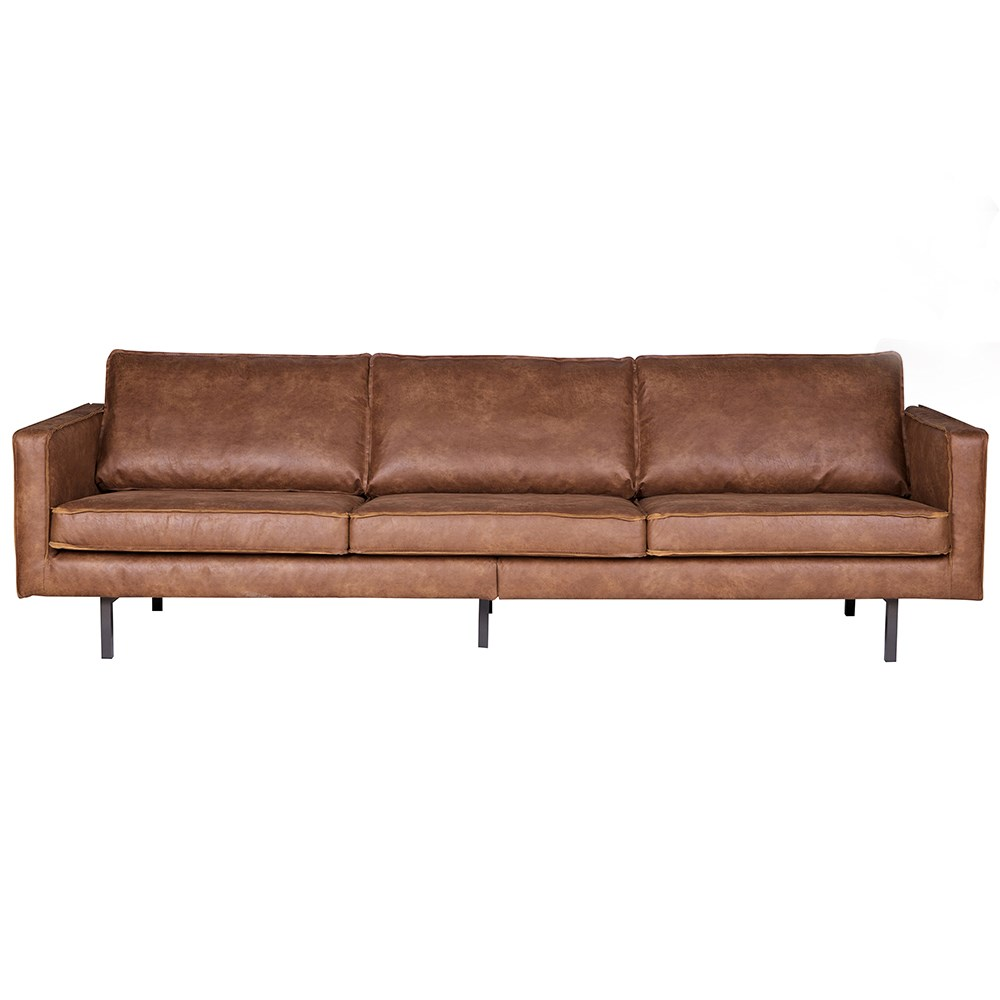 Rodeo 3 Seater Leather Sofa In Tan Be