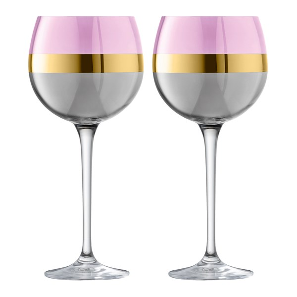 LSA International Bangle Balloon Glasses in Rose Pink