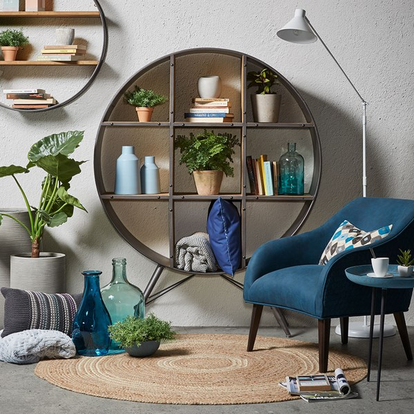 Helia Round Freestanding Shelving Unit