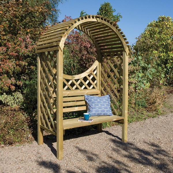 Rowlinson Keswick Garden Arbour in Natural Timber