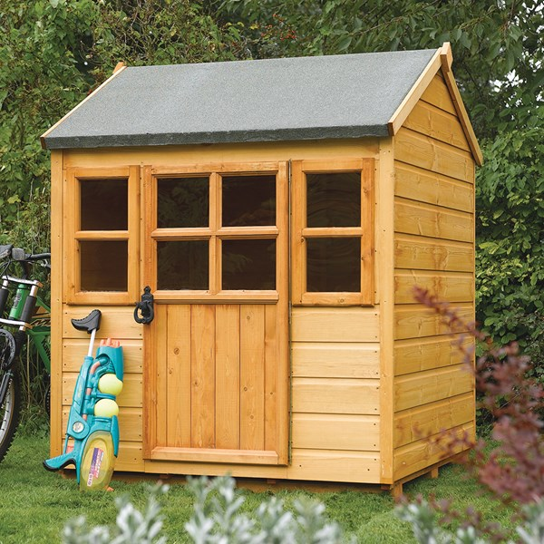 Rowlinson Kids Little Lodge Wooden Playhouse