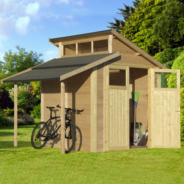 Rowlinson Paramount 7x10 Skylight Shed with Lean To