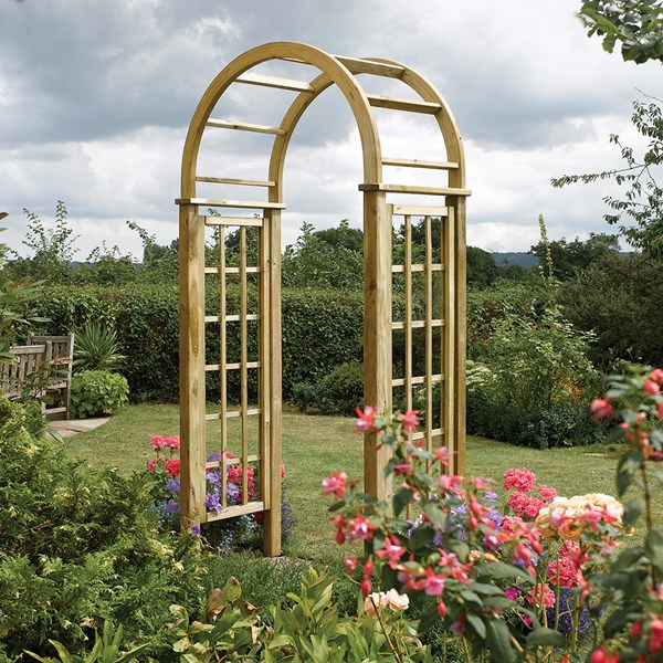 Rowlinson Round Top Arch in Natural Timber