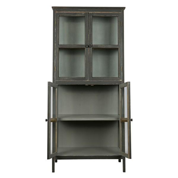 Herritage Slanted Display Cabinet in Black