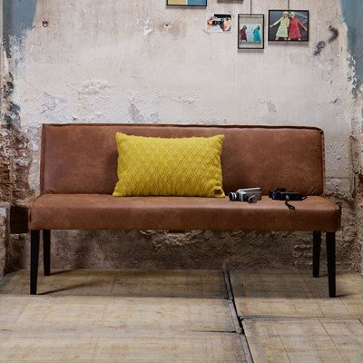 Rodeo Leather Dining Bench by BePureHome