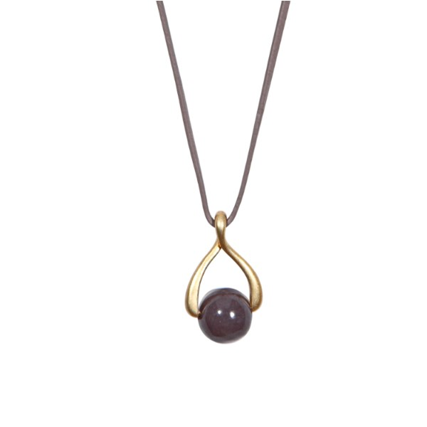 SENCE COPENHAGEN Purple Aventurine and Leather 'Twist' Necklace