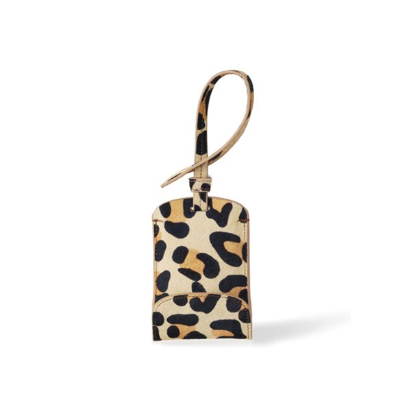 Smart Bag Tag Mobile Phone Charger in Leopard