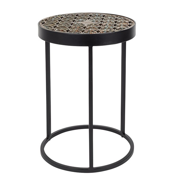 Designer Side Table with Glass Top