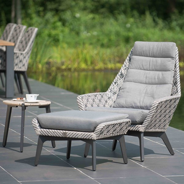 Savoy Batik Garden Chair with Optional Footstool by 4 Seasons Outdoor