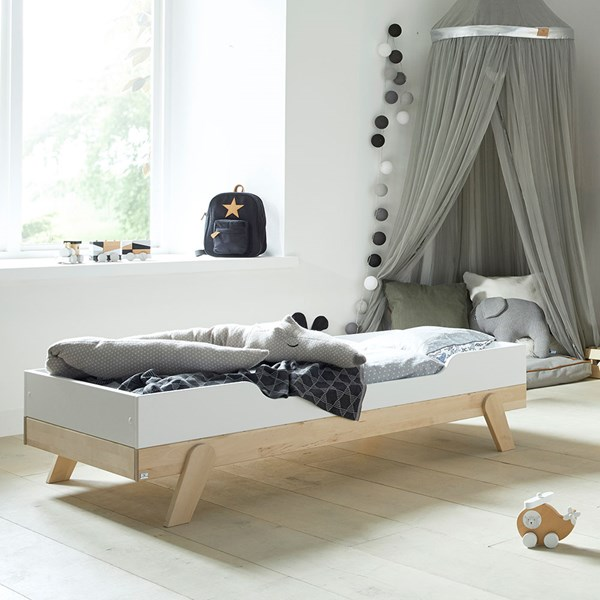 Lifetime Toddler Bed in White & Birch