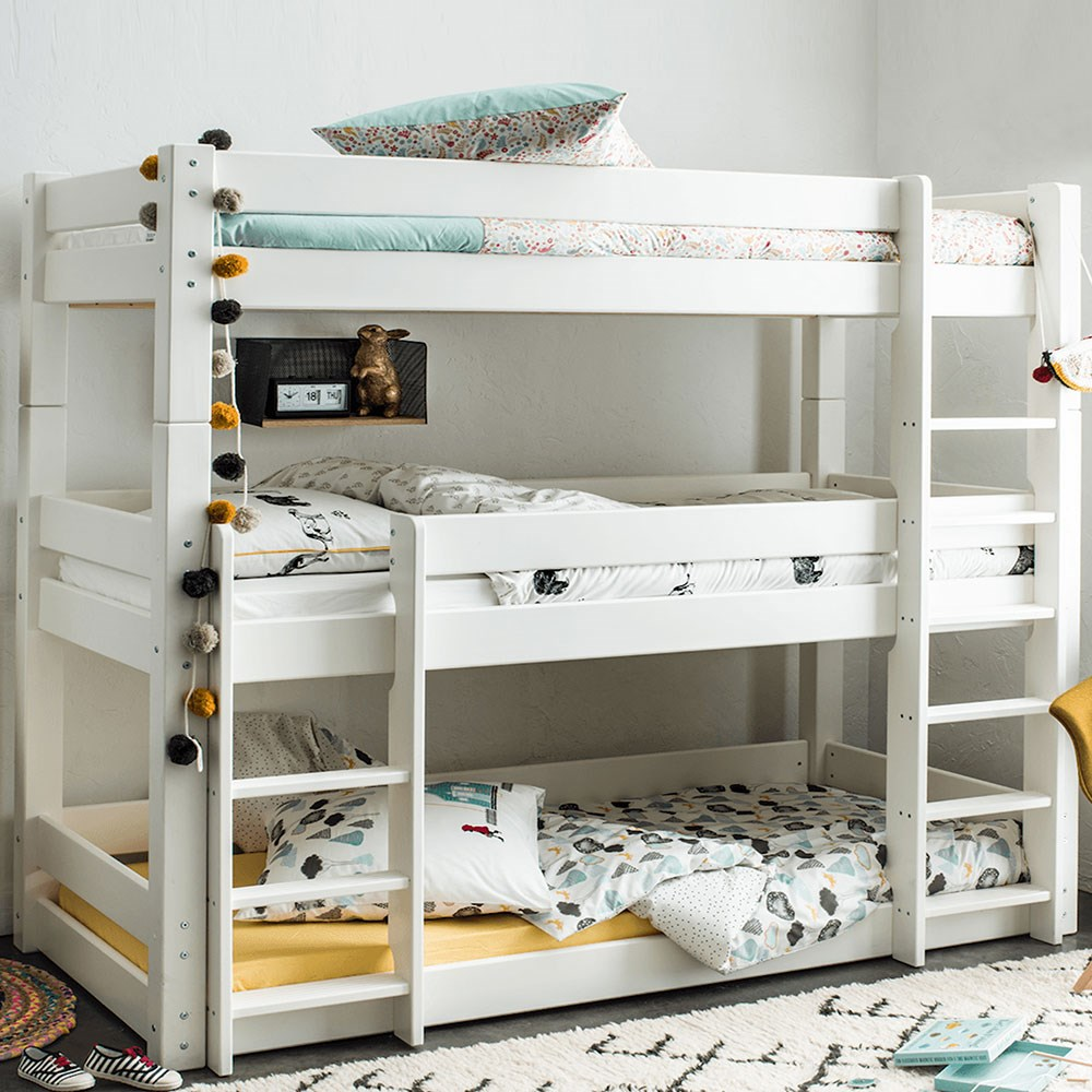 Scandinavia Triple Bunk Bed By Flair Furnishings Flair Furniture Cuckooland