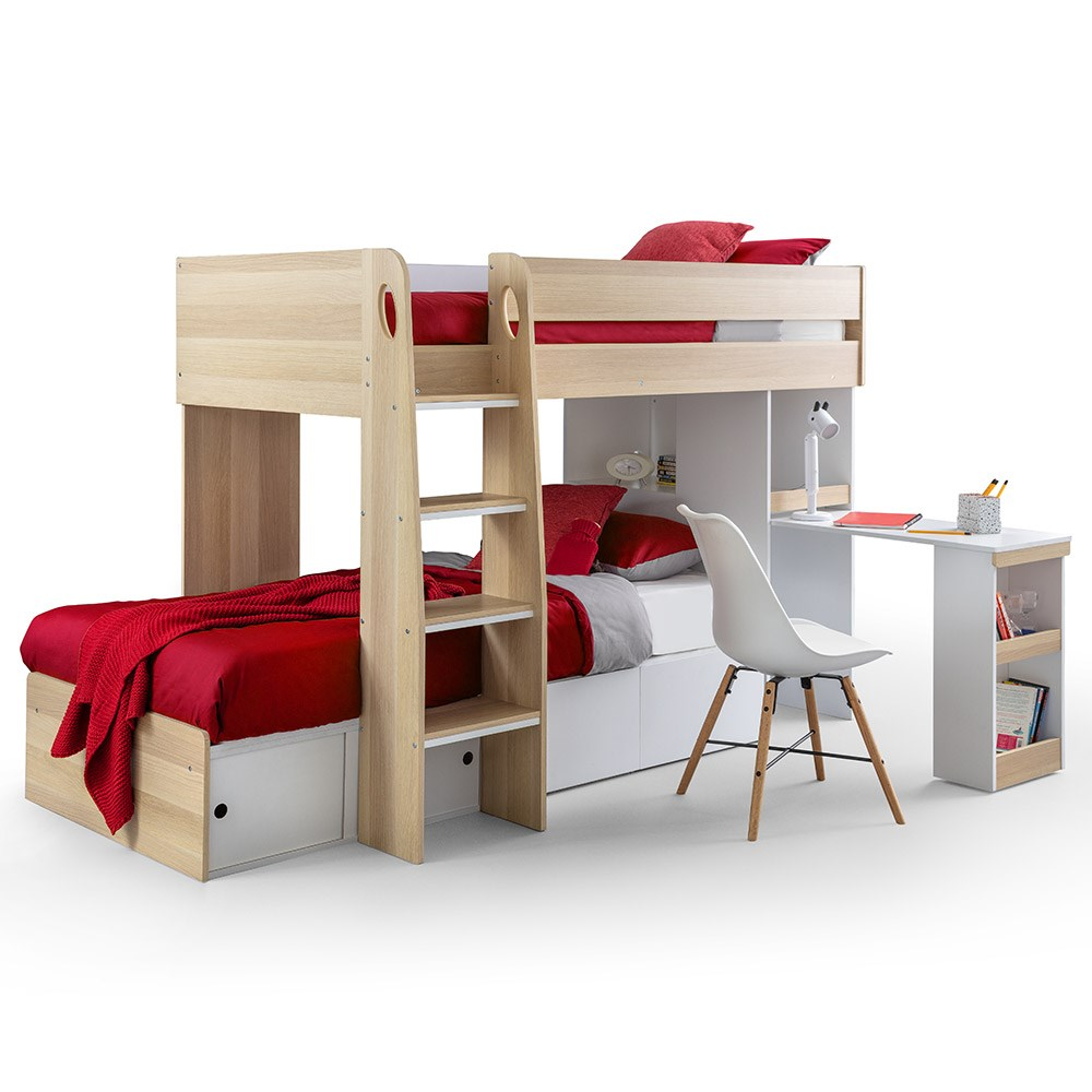 Julian Bowen Eclipse Bunk Bed With Desk Julian Bowen Cuckooland