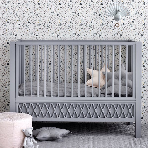 Cam Cam Copenhagen Harlequin Cot Bed in Grey