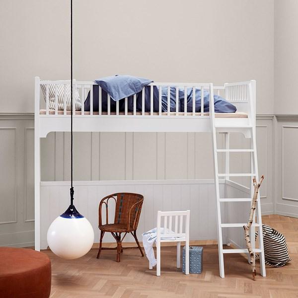 Oliver Furniture Seaside Children's Luxury Loft Bed in White